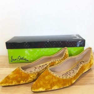 Sam Edelman Rivera Yellow Gold Flats 7.5